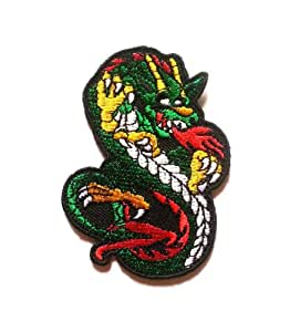 Chinese Dragon Animal Cartoon Iron on Patch Embroidered Racing DIY T-shirt Jacket
