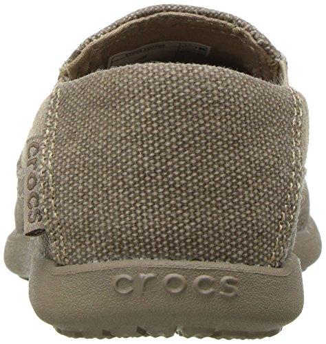 Crocs - Zapatillas de Deporte Unisex Niños Khaki/Cobblestone