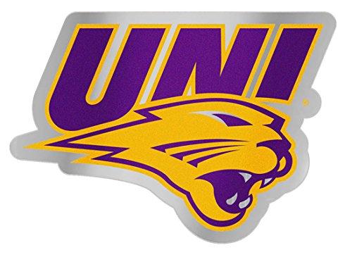 (Northern Iowa UNI Panthers Auto Badge Decal, Hard Thin Plastic)