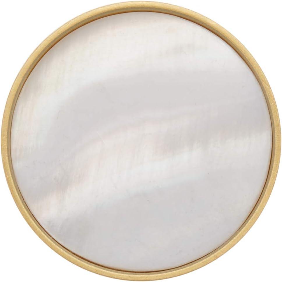 Lot de 4 Boutons de Portes Bouton de Meuble en Laiton pour Placards Tiroir et Armoire Crochets Muraux pour Suspendre des V/êtements 32mm Blanc