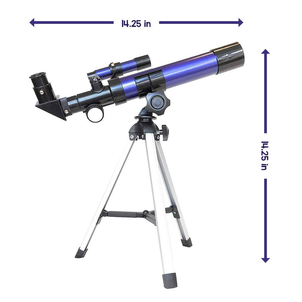 Moon Travel Scope Qurious Space Kids Explorer Telescope Gift Kit w Eco Carry Case Science Education Adjustable Tripod /& Compass  Glow in The Dark Stickers for Children /& Astronomy Beginners