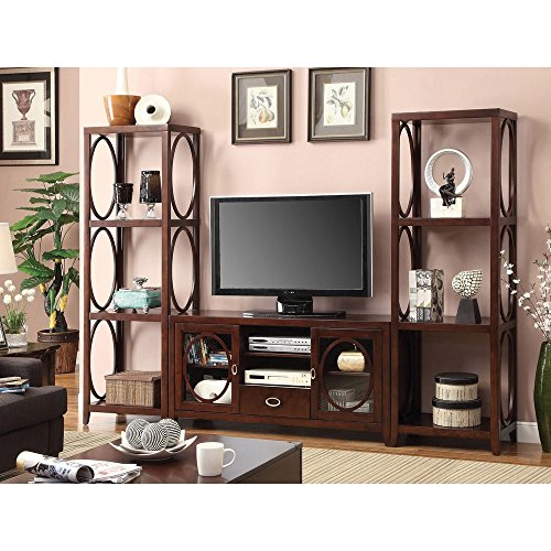 Furniture of America 'Melvilon' Cherry 3-Piece TV Entertainment Center with Media ()