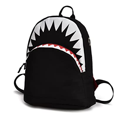 cdc53187d40e Amazon.com: Weite Kids Backpack, Vivid Cartoon Shark Image ...
