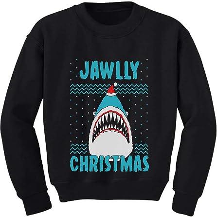 Great White Shark Ugly Christmas Sweater Toddler//Kids Long sleeve T-Shirt Gift