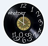 Whatever Vinyl Wall Clock Unique Gifts Living Room Home Decor