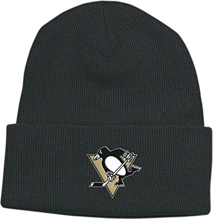 cheap for discount 6b133 8d99d Image Unavailable. Image not available for. Color  NHL Reebok Pittsburgh  Penguins Black Watch Knit Beanie