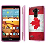 LG G Stylo [LS770 H631] Case, [NakedShield] [Purple] DUO Shock Resistant Armor Case - [Flag Canada] for LG G Stylo LS770 -  NakedShield for LG G Stylo
