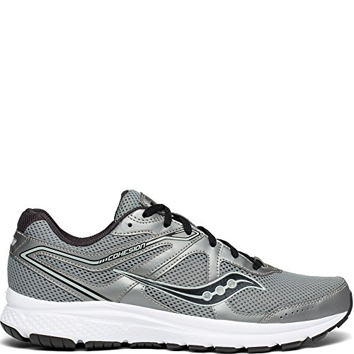 Saucony Men's Cohesion 11 Sneaker, Gunmetal/Black, 9.5 M US (The Best Running Shoes For Wide Feet)