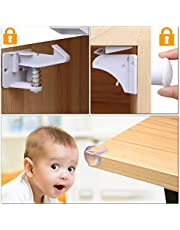 AiHom Cerraduras de Seguridad Magnéticas Protectores de Esquinas Proteger Niños Para Cajones Invisibles Adhesivo3M 17 Piezas