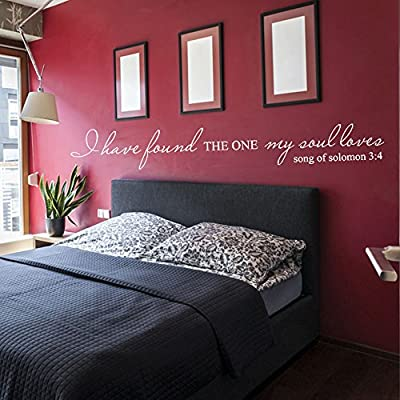 Vinyl Love Decal Romantic Love Saying Quote Love Wall Sticker Words Wall Grapihc Home Art Decoration - I Have Found The One My Soul Loves