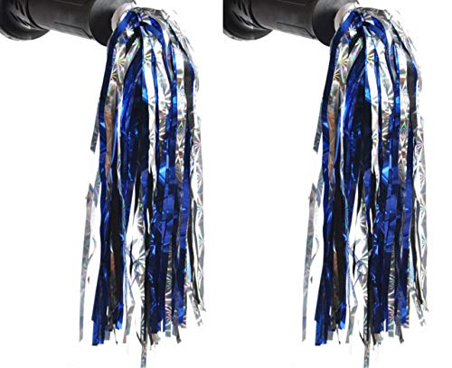 1Pair Bicycle Tassel Ribbon Scooter Handle Sparkle Streamer Bike Adornment Accessories Decoration Hand Grip Spike for Kids Children