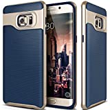 Galaxy S6 Edge Plus Case, Caseology® [Wavelength Series] Textured Pattern Grip Cover [Navy Blue] [Shock Proof] for Samsung Galaxy S6 Edge Plus (2015) - Navy Blue