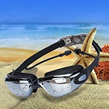 Swimming Goggles,World 9.99 Mall No Leaking Anti Fog UV Protection Swim Goggles,Strap Adjustable, with Protection Case + Nose Clip + Ear Plugs,Crystal Clear Vision-Comfortable Fit For Men Women Youth Kids
