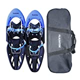 Flashtek Snowshoes for men and women High End Plastic Hiking/ Terrain Snowshoes with Heel Lift + Free Carry Bag 25
