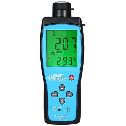 Fesjoy Medidor de Oxígeno Digital Portátil Automóvil O2 Probador de gas Monitor Detector Medidor de Oxígeno