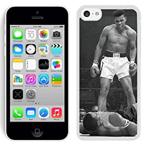 Beautiful and DIY Iphone 5c Case Design with Muhammad Ali Vs Sonny Liston White Case for Iphone 5c Generation