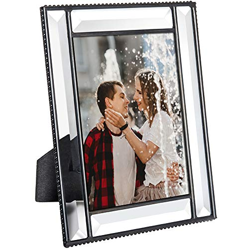 (J Devlin Pic 354-46HV Beveled Glass Picture Frame Wedding Frame Keepsake Tabletop Photo (4x6))