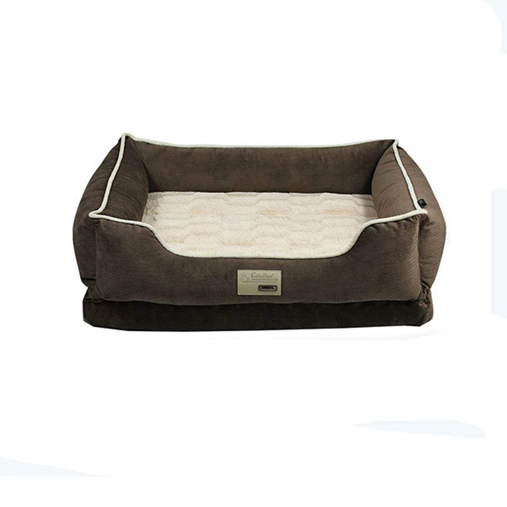 C S C S Pet Bed Washable Plush Dog Bed with Removable Cover, Soft Dog Sofa (color   C, Size   S)