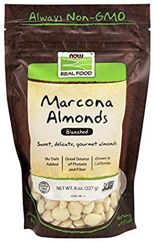 NOW Foods Marcona Blanched Almonds, 8-Ounce - Buttery Almond