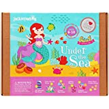 jackinthebox Art and Craft Mermaid Sewing Kit for Kids - Under The Sea 6 DIY Fun Activities and Crafts for Girls Ages 6-10, for Girls (6-in-1)