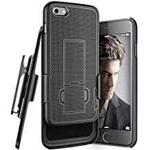 iPhone 7 Belt Clip Case, Encased (Ultra Thin) Secure-fit Cover w/ ClikLock Holster (Black)