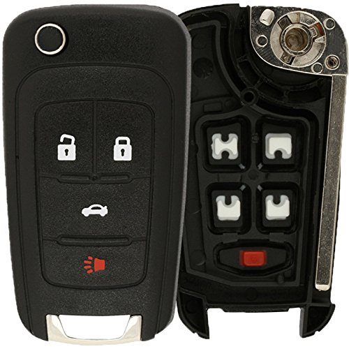 KeylessOption Just the Case Keyless Entry Remote Control Car Key Fob Shell Replacement For OHT01060512 LYSB01K081Q2M-ELECTRNCS