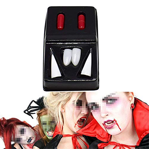 Wendy Mall Halloween Decoration Vampire Teeth Horrific Werewolf Teeth Fright Fangs Tooth with Blood Capsules Party Cosplay Dentures Props