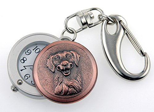 Golden Retriever - Copper Tone - Novelty Belt Fob/Keychain (Golden Retriever Belt)
