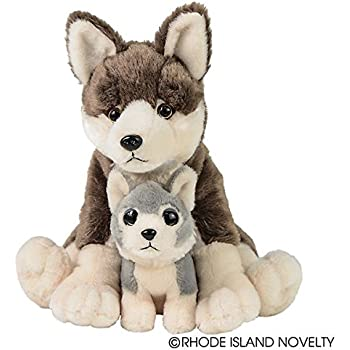 nat and jules plush toy wolf mom and pup baby. Black Bedroom Furniture Sets. Home Design Ideas