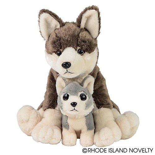 Adventure Planet Birth of Life Wolf with Baby Plush Toy 12