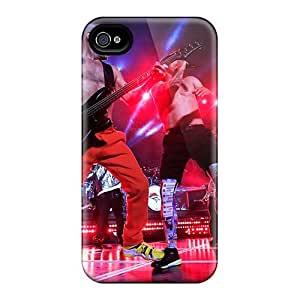 Shock Absorption Hard Cell-phone Cases For Iphone 4/4s (MBm6864MZYo) Support Personal Customs Stylish Red Hot Chili Peppers Pattern
