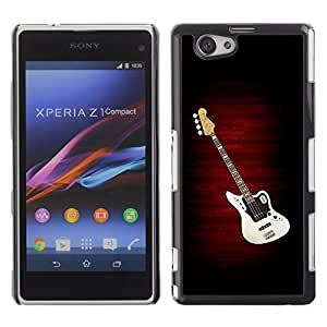 LOVE FOR Xperia Z1 Compact D5503 Electric Guitar Minimalist B W Personalized Design Custom DIY Case Cover