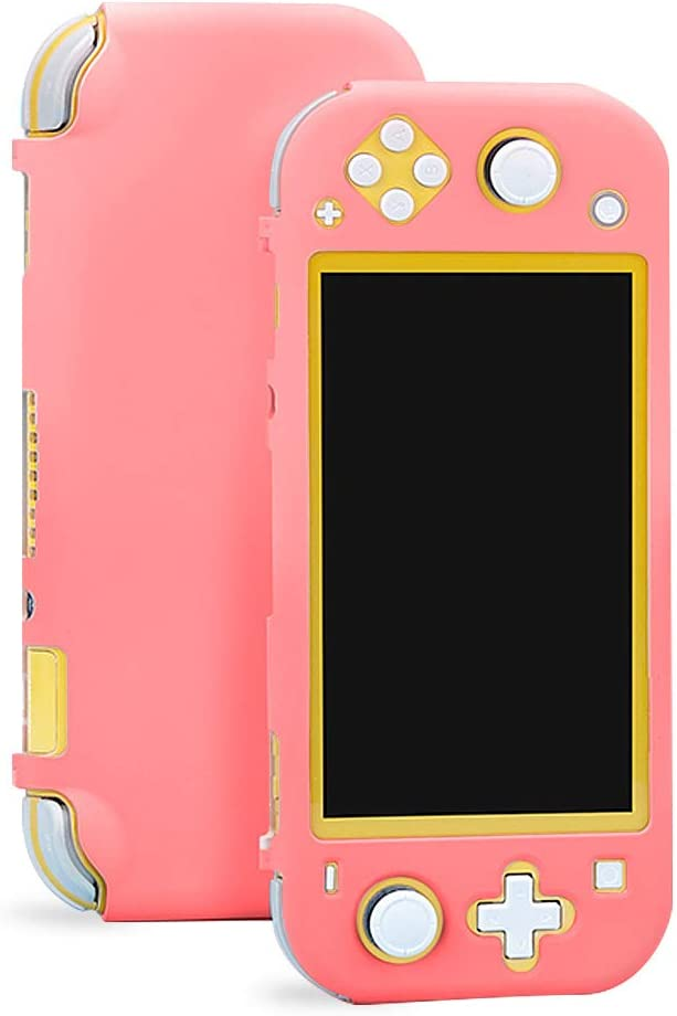 Sunooma Switch Lite Case,Protective Hard Shell,Colorful Case Cover,Hard Cover Back Grip Shell For Nintendo Switch Lite 2019 (Pink)