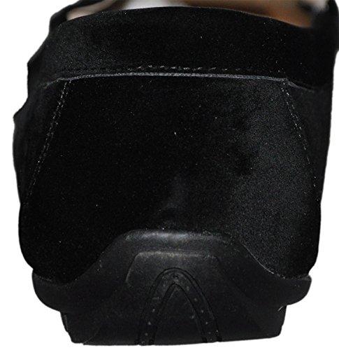Mocassins con forro interior piel G001 Negro - negro