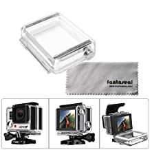 Fantaseal® Waterproof Protective Backdoor for GoPro Bacpac LCD Screen GoPro Bacpac Battery GoPro Replacement Backdoor Waterproof Housing GoPro Skeleton Housing Protector Back Door Hard Housing Case Cover for GoPro Hero 4 / GoPro Hero 3+ / GoPro Hero3 White Slim Edition Under Water Back Door Housing