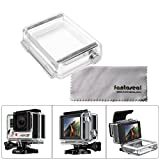 Fantaseal Wateproof Backdoor for GoPro Bacpac LCD Screen GoPro Bacpac Battery GoPro Replacement Backdoor Waterproof Housing GoPro Skeleton Housing Back Door for GoPro Hero 4 GoPro Hero3+ Housing