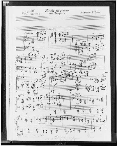 Photo: Sonata,E minor,pianoforte,sheet music,African Americans,Florence B (Pianoforte Sonatas)