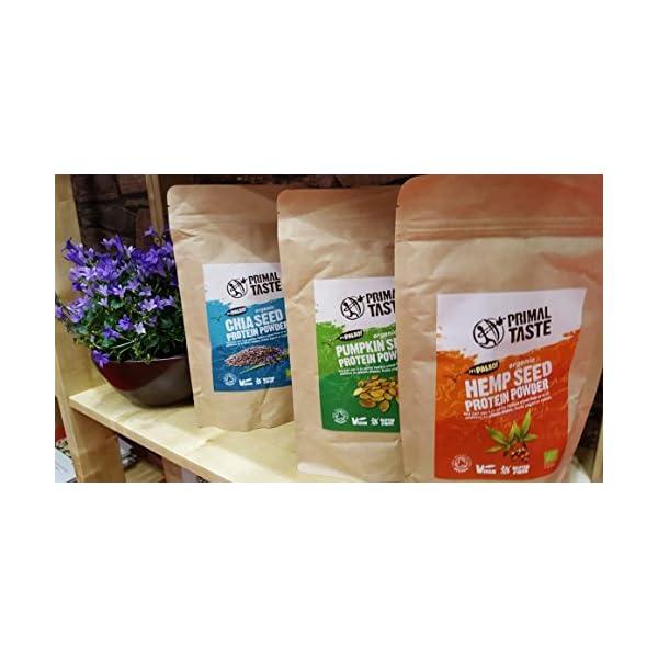 Organic Hemp Seed Protein Powder – 350g, raw, Vegan, EU Origin, Soil Association