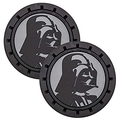 Plasticolor 000673R01 Star Wars Darth Vader Auto Car Truck SUV Cup Holder Coaster 2-Pack: Automotive