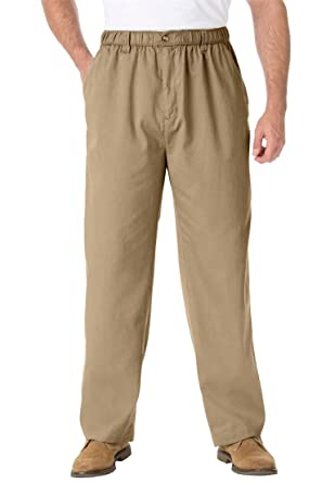 07eb0d2ab18 KingSize Men s Big   Tall Knockarounds Plain Front Pants In Twill Or ...