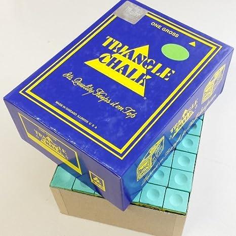 Triangle - Tizas para taco de billar (144 unidades), color verde: Amazon.es: Deportes y aire libre