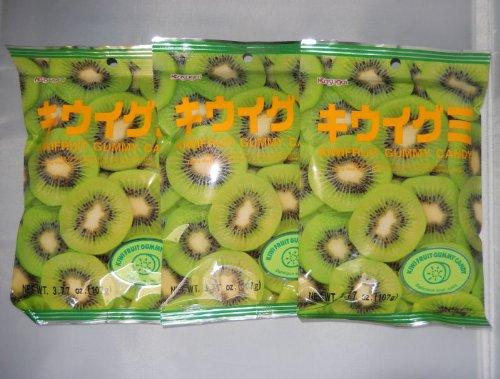 Kasugai Japanese Gummy Candy, Kiwi Flavor, 3.77-ounce Bags (Pack of - Kiwi Kasugai Gummy