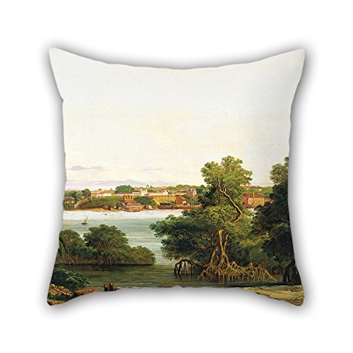 uloveme-18-x-18-inches-45-by-45-cm-oil-painting-joseph-laon-righini-view-of-sao-luis-do-maranhao-cus