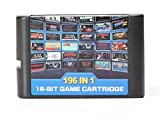 DODOING 196 in 1 Multi Games Cards Cartridge 16 Bit for Sega Mega Drive MD for PAL and NTSC