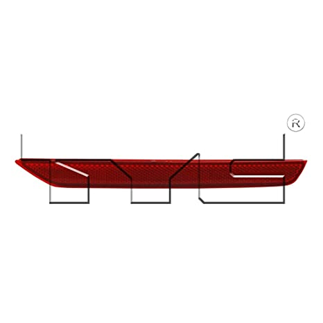 Genuine Honda Parts 33505-TK8-A01 Passenger Side Rear Bumper Reflector