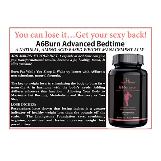 A6BURN: Nighttime Fat Burner Sleep Aid, Metabolism Booster, Appetite Suppressant, Bedtime Weight Loss Supplement for…