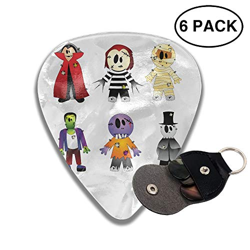 (Halloween Costume New York's Village Halloween Parade Clip Art - Halloween Transparent Creepy Collection Premium Celluloid Guitar Picks Plectrums for Guitar Bass-6)