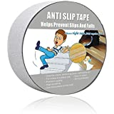 """Anti Slip Tape Clear,Safety Track Tape Skid Tape Roll High Traction Strong Grip Abrasive Residue Free Adhesive (2"""" Width x 190"""" Long,Clear)"""
