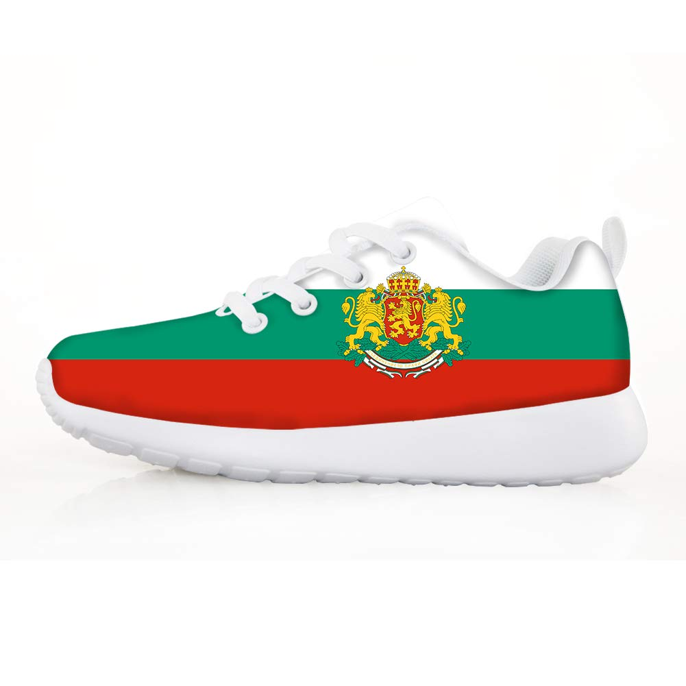 Boys Girls Casual Lace-up Sneakers Running Shoes Bulgaria Flag National Emblem