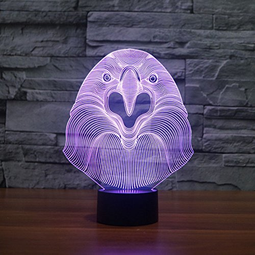 Comics+3D+Night+Lamp+ Products : Acrylic 3D Owl Night Lamp Led Table Desk Light Touch Switch Usb 7 Colors